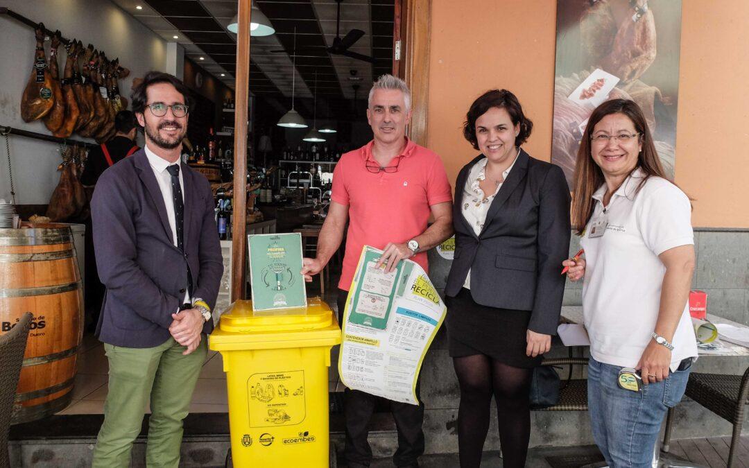 Ecoembes y Ayuntamiento ponen en marcha un proyecto de reciclaje para los establecimientos de la ciudad turística