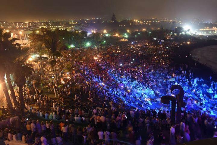 El fuego y la música reinaron en Playa Jardín en la noche de  San juan