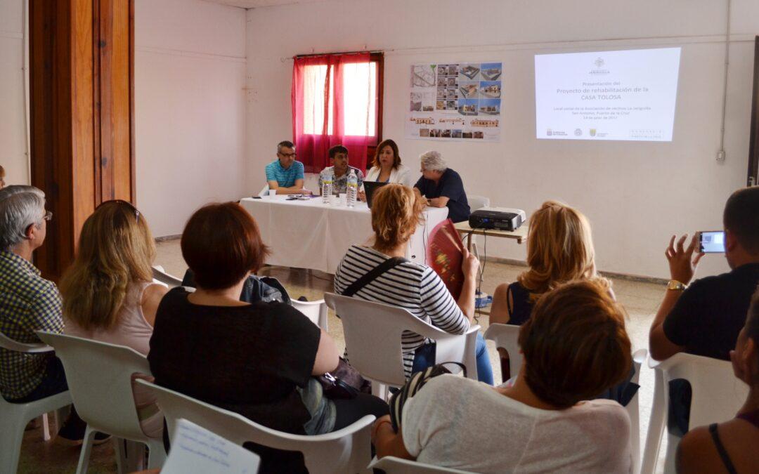 Ayuntamiento y Consorcio Urbanístico presentan el proyecto de la Casa Tolosa a los vecinos