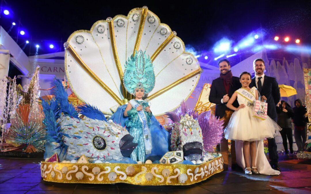 Zaira Ramos Afonso, Reina Infantil del Carnaval Internacional del Puerto de la Cruz 2018