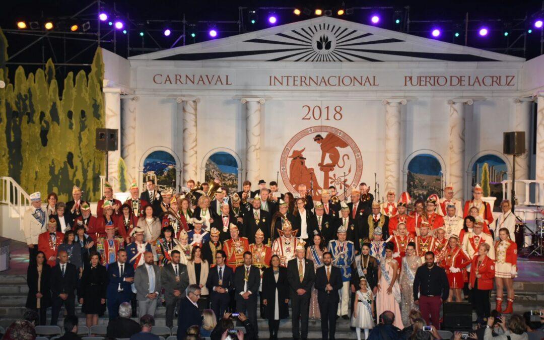La delegación alemana del Carnaval llega al Puerto de la Cruz