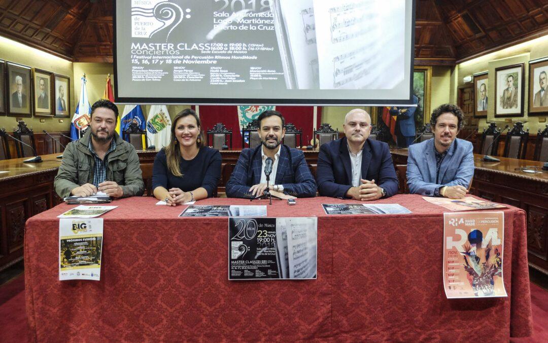 La Escuela de Música de Puerto de la Cruz celebra su 20 aniversario