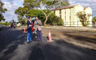 El Ayuntamiento de Puerto de la Cruz inicia el asfaltado de la Avda. Archipiélago Canario