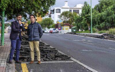 El Ayuntamiento portuense comienza con el asfaltado de la calle Luis Rodríguez Figueroa
