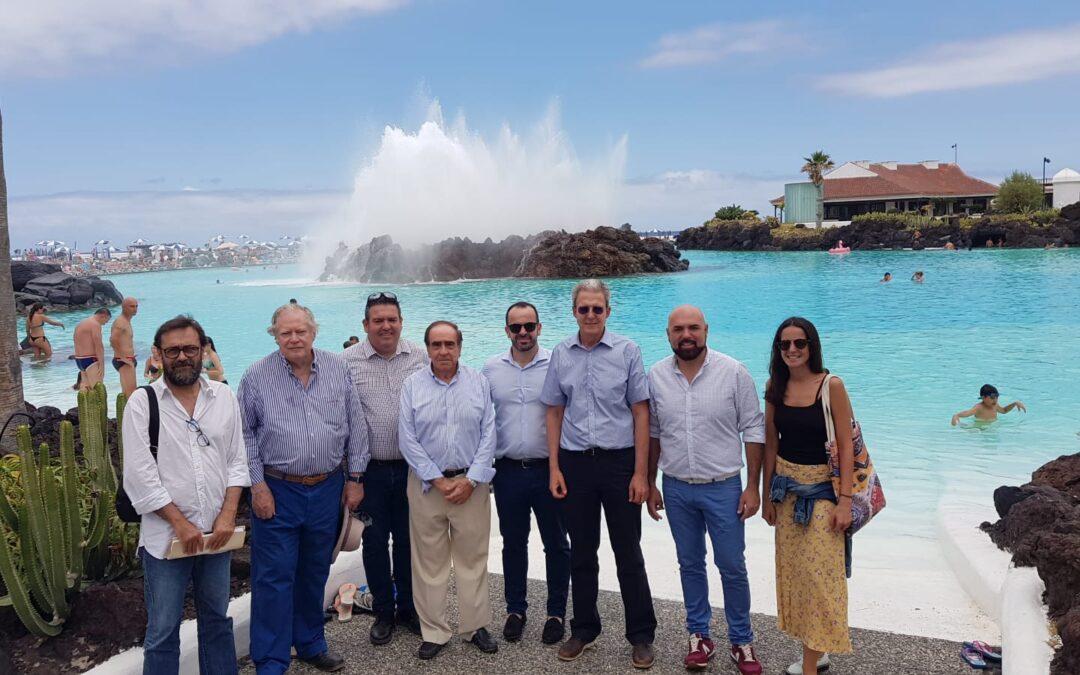 Visita del presidente de la Fundación César Manrique