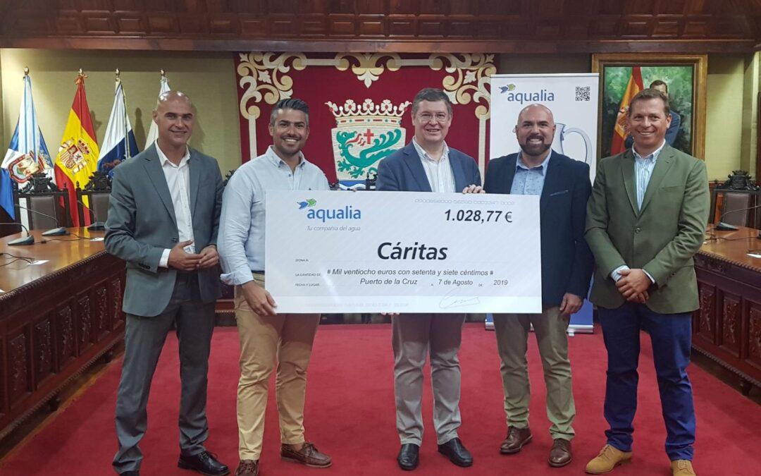 Aqualia colabora con la casa de acogida de Cáritas en el municipio tinerfeño de Puerto de la Cruz