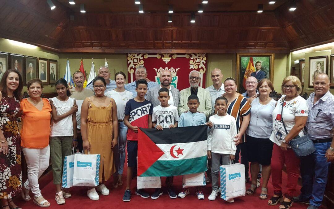 Recepción a niños y niñas saharauis