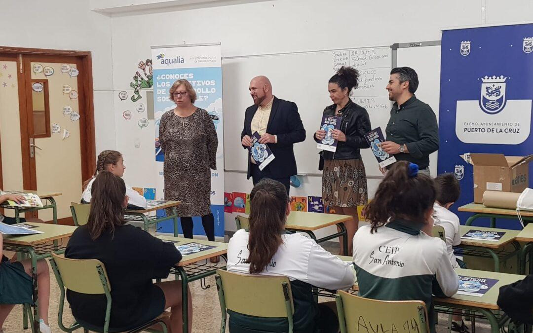 Puerto de la Cruz y Aqualia acercan los ODS y la Agenda 2030 a los colegios en la 18ª edición de su Concurso Infantil