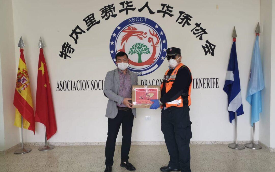 La Asociación Sociocultural Dragón China dona al ayuntamiento un total de 400 mascarillas.