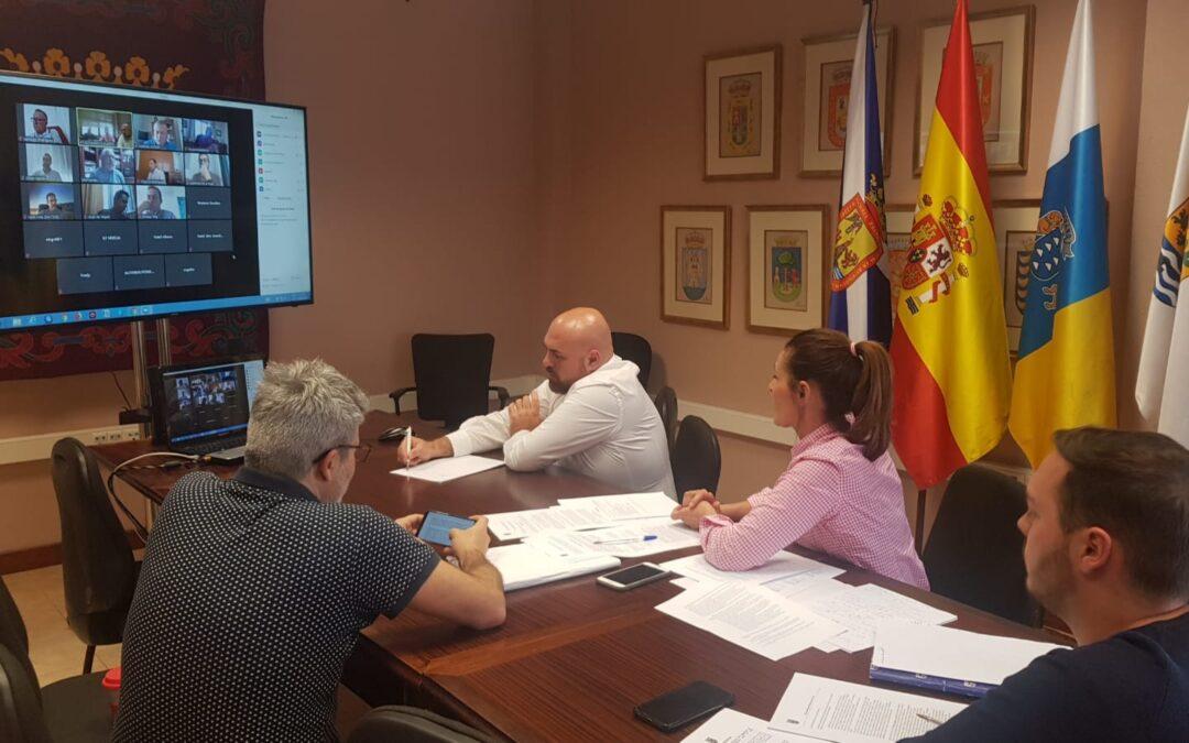 Reunión telemática con el sector hotelero de Puerto de la Cruz