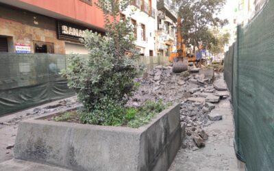 Ya están en marcha los trabajos de mejora y acondicionamiento de la calle Blanco