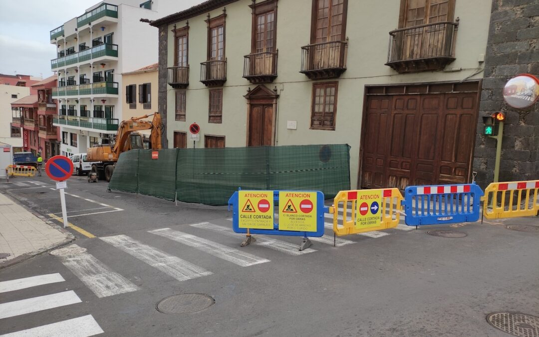 Las obras de mejora y acondicionamiento de la calle Blanco avanzan a buen ritmo