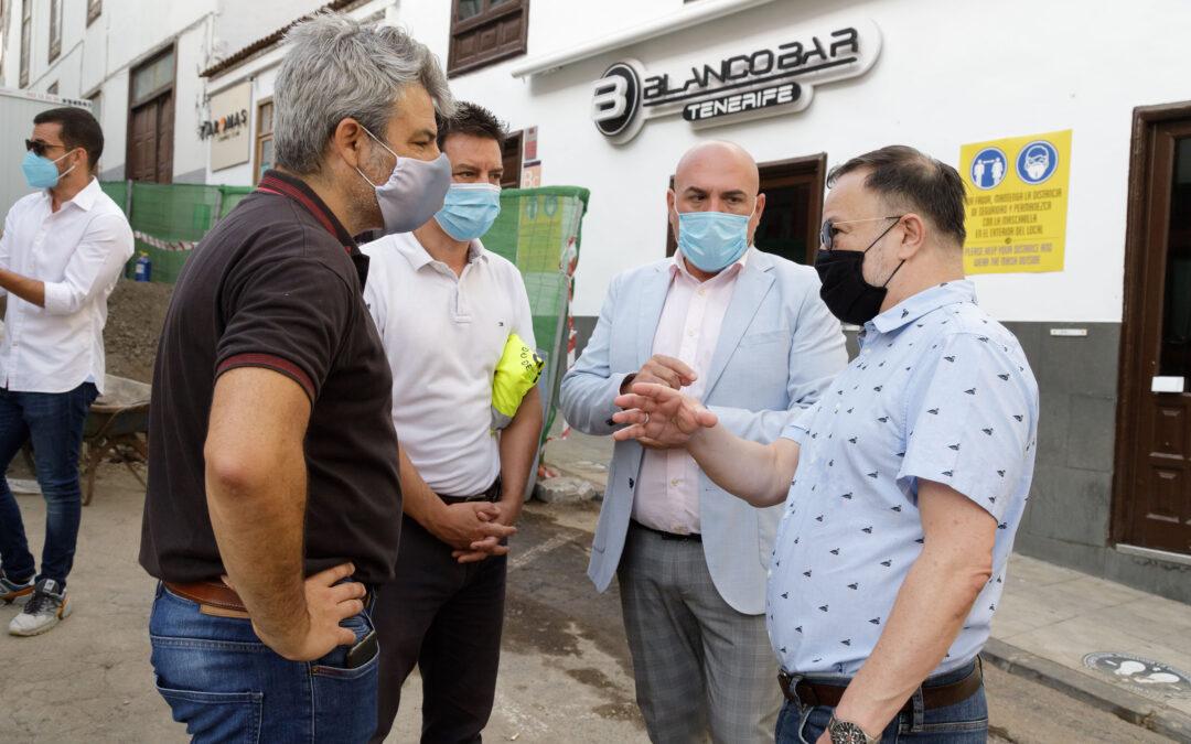 Martín Plata supervisa el avance de las obras de mejora turística del Puerto de la Cruz