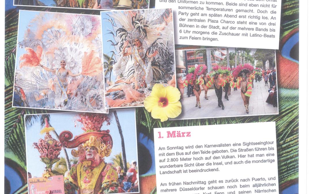 Düsseldorf dedica 10 páginas de su Programa del Carnaval 2021 a Puerto de la Cruz