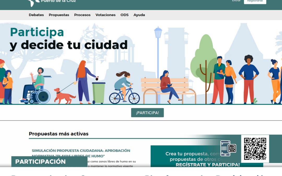 Puerto de la Cruz estrena Plataforma de Participación Ciudadana