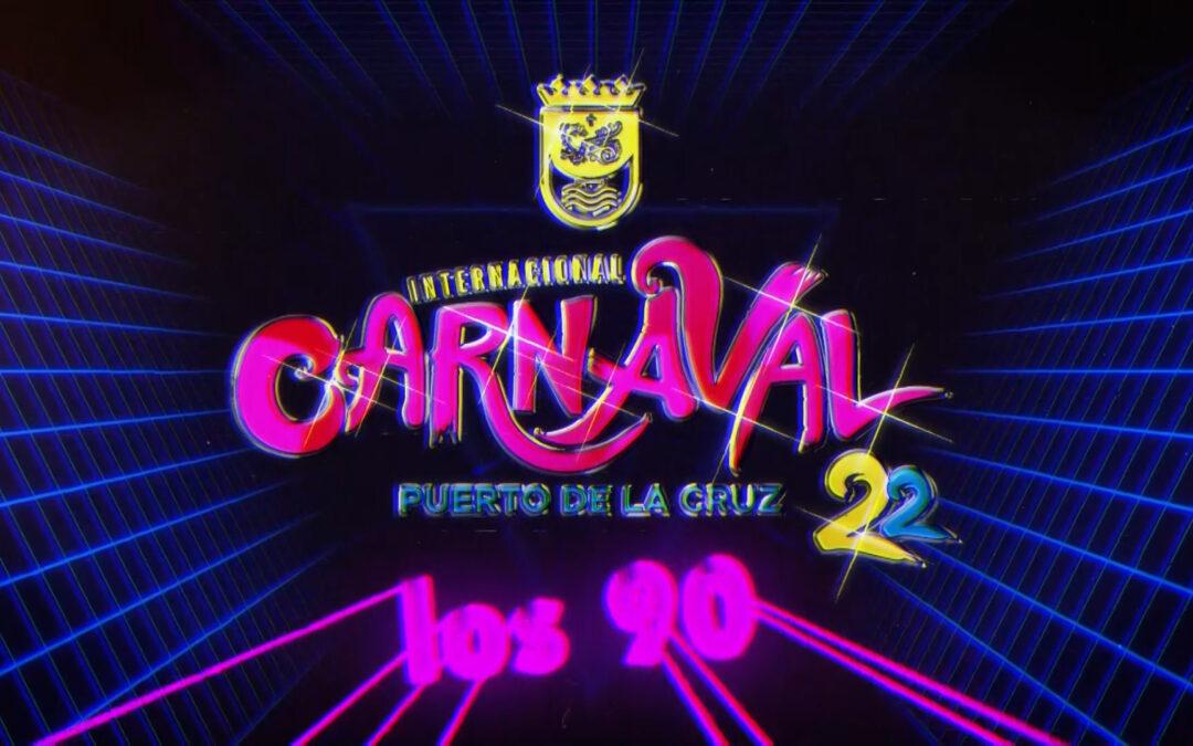 Puerto de la Cruz volverá a 'Los 90' en el próximo carnaval de invierno 2022