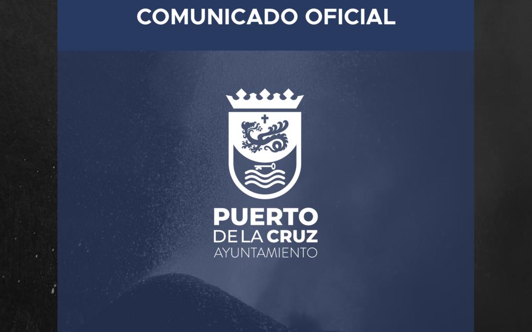COMUNICADO OFICIAL   Apoyo a la isla de La Palma