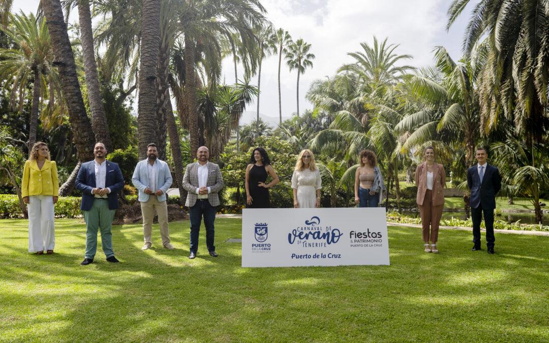 La gala del Carnaval de Verano de Tenerife en Puerto de la Cruz