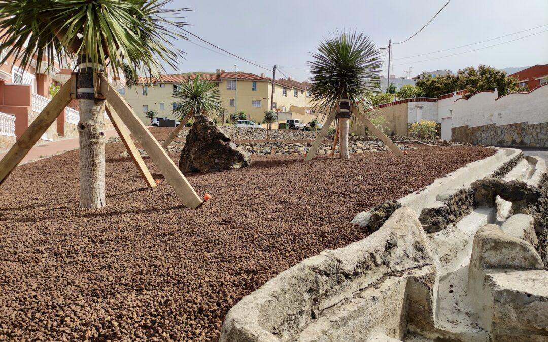 Nueva zona verde en La Vera, en el entorno del IES María Perez Trujillo
