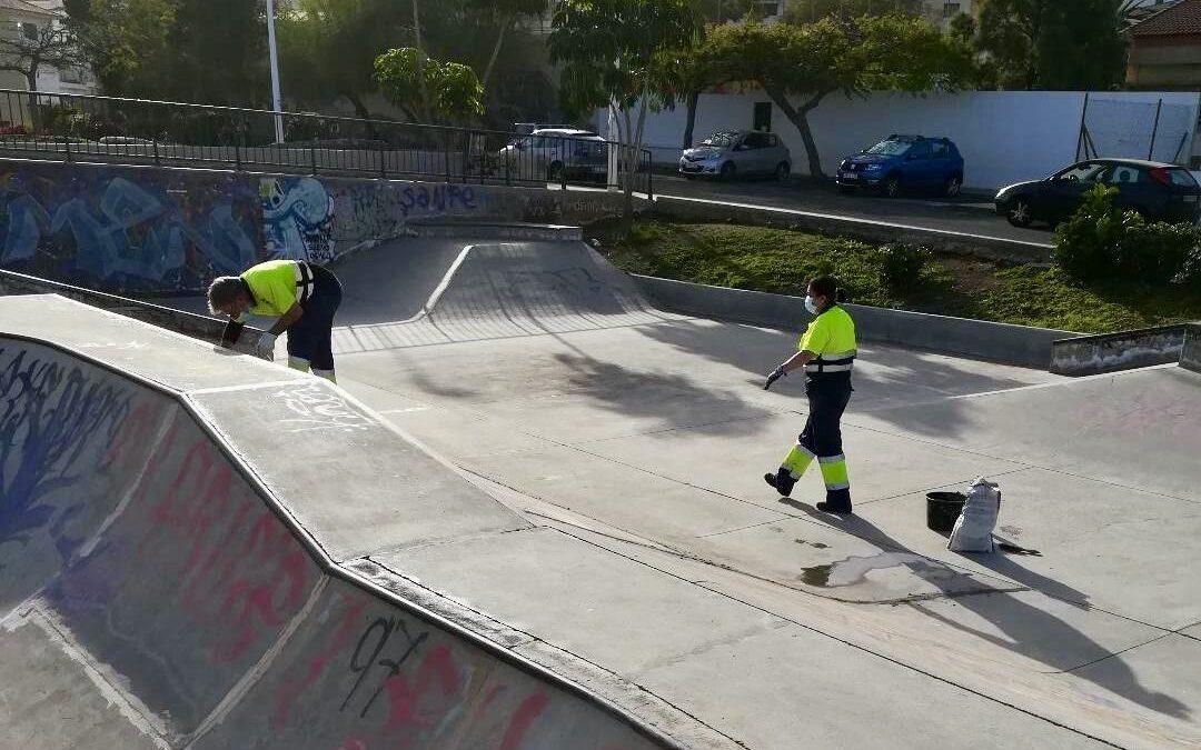 Trabajos de mantenimiento, limpieza y remozado de instalaciones deportivas