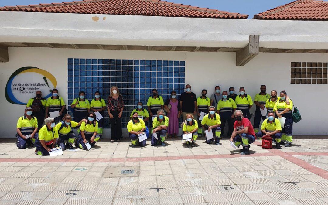 Las 27 personas contratadas mediante el Programa Especial de Empleo Puerto de la Cruz 2020 concluyen su labor para el Ayuntamiento