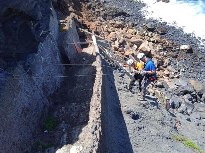 El informe técnico encargado por el Ayuntamiento sobre el último desprendimiento en Punta Brava confirma que no ha afectado a viviendas ni a la calle Tegueste