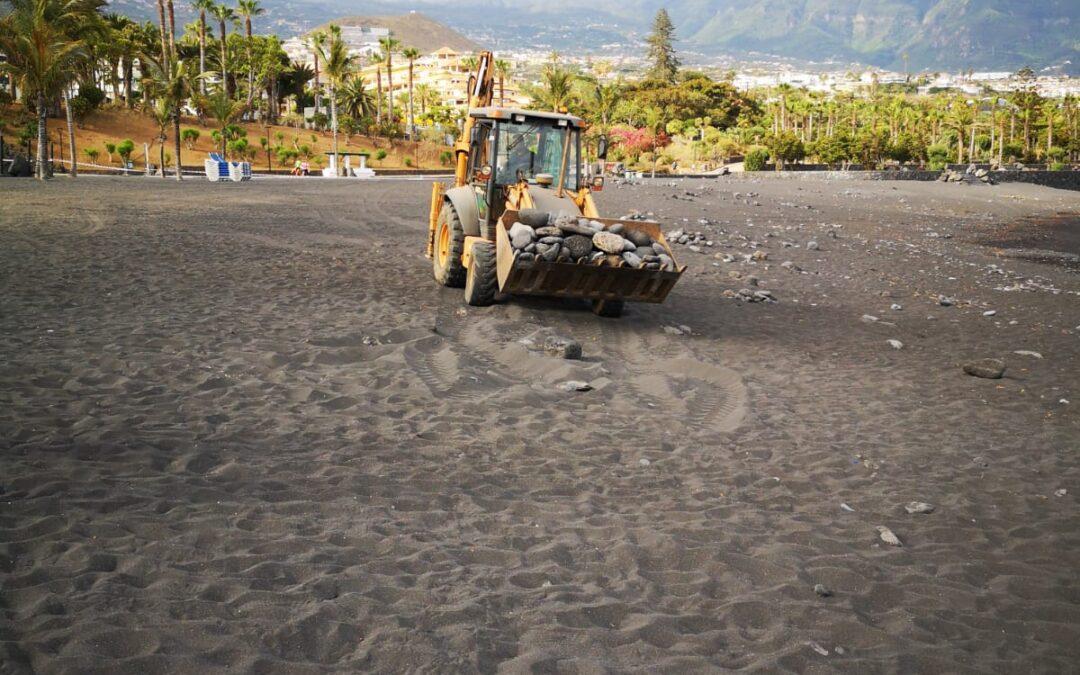 Puerto de la Cruz pone a punto Playa Jardín y su entorno