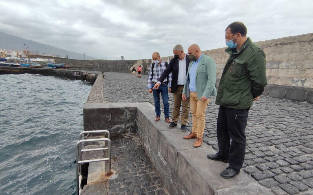 El Ayuntamiento y Puertos Canarios avanzan en la seguridad del muelle pesquero de la ciudad