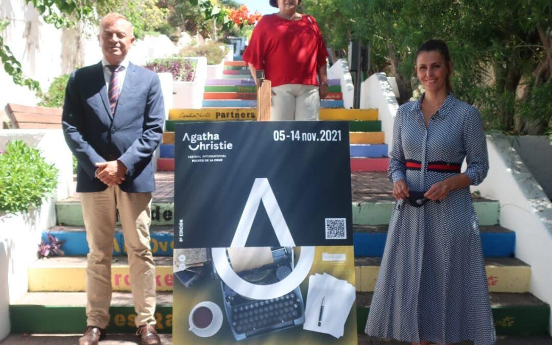 Puerto de la Cruz presenta el cartel de la octava edición del Festival Internacional Agatha Christie